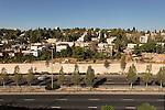 Israel, Jerusalem, Beth Ha'kerem neighborhood behind Menachem Begin Highway<br />