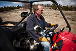 Former Montana Governor Brian Schweitzer rides a ATV with his dog Jag near his Georgetown Lake home in Anaconda, Montana, May 7, 2014.<br /> CREDIT: Max Whittaker/Prime for The Wall Street Journal<br /> BRIAN