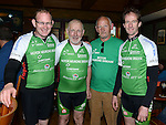 Shay Sheridan, Benny Grogan, Peter Grogan and David Carry in Dunleer on their return from a cycle to Kilkenny in aid of Motor Neurones disease. Photo:Colin Bell/pressphotos.ie
