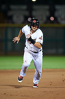Scottsdale Scorpions outfielder Todd Hankins (25) running the bases during an Arizona Fall League game against the Mesa Solar Sox on October 20, 2015 at Scottsdale Stadium in Scottsdale, Arizona.  Mesa defeated Scottsdale 5-4.  (Mike Janes/Four Seam Images)