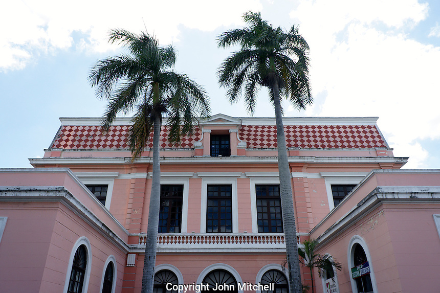 Post office building or correros in Merida, Yucatan, Mexico...