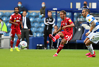 Bobby Reid of Fulham passes the ball during Queens Park Rangers vs Fulham, Sky Bet EFL Championship Football at the Kiyan Prince Foundation Stadium on 30th June 2020