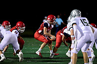 September 6, 2018:  Game action from the Bridgewater-Raynham vs Duxbury varsity football game played at Bridgewater-Raynham High School in Bridgewater MA. Eric Canha/BridgewaterSports.com