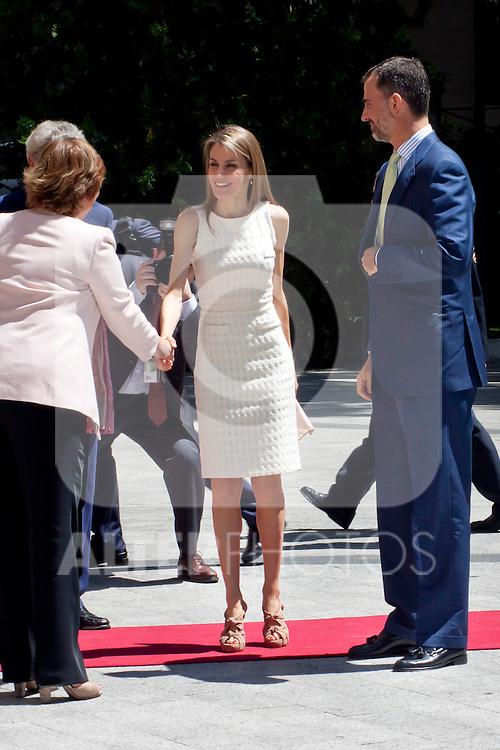 "DELIVERY OF THE IX EDITION OF THE ""LUIS CARANDELL"" PARLIAMENTARY JOURNALISM AT THE HANDS OF THE PRINCES OF ASTURIAS . July 24, 2013. (ALTERPHOTOS/Adrian P. Rincon)<br /> Prince Felipe of Asturias, Princess Litizia of Asturias"