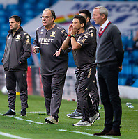 Leeds United manager Marcelo Bielsa spills his coffee as his he shouts instructions to his team from the technical area<br /> <br /> Photographer Alex Dodd/CameraSport<br /> <br /> The EFL Sky Bet Championship - Leeds United v Charlton Athletic - Wednesday July 22nd 2020 - Elland Road - Leeds <br /> <br /> World Copyright © 2020 CameraSport. All rights reserved. 43 Linden Ave. Countesthorpe. Leicester. England. LE8 5PG - Tel: +44 (0) 116 277 4147 - admin@camerasport.com - www.camerasport.com