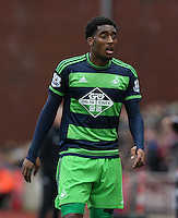 Swansea City's Leroy Fer during the Barclays Premier League match between Stoke City and Swansea City played at Britannia Stadium, Stoke on April 2nd 2016
