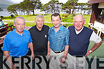 Pictured at the Donal Walsh Memorial Tournament at Killarney Golf and Fishing Club on Friday were l-r: Jim McGrath, Pat Loughnane, Brendan O'Sullivan and Declan Laud (all Tralee)