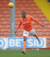 Blackpool's Donervon Daniels<br /> <br /> Photographer Kevin Barnes/CameraSport<br /> <br /> The EFL Sky Bet League One - Blackpool v Oxford United - Saturday 23rd February 2019 - Bloomfield Road - Blackpool<br /> <br /> World Copyright © 2019 CameraSport. All rights reserved. 43 Linden Ave. Countesthorpe. Leicester. England. LE8 5PG - Tel: +44 (0) 116 277 4147 - admin@camerasport.com - www.camerasport.com