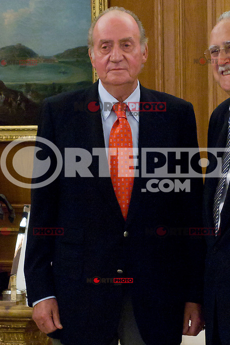 Juan Carlos I of Spain attend the audience with I&ntilde;aki Azkuna Urreta, Mayor of Bilbao, at the Royal Palace of La Zarzuela. In the image King Juan Carlos (Alterphotos/Marta Gonzalez) /NortePhoto.com<br />