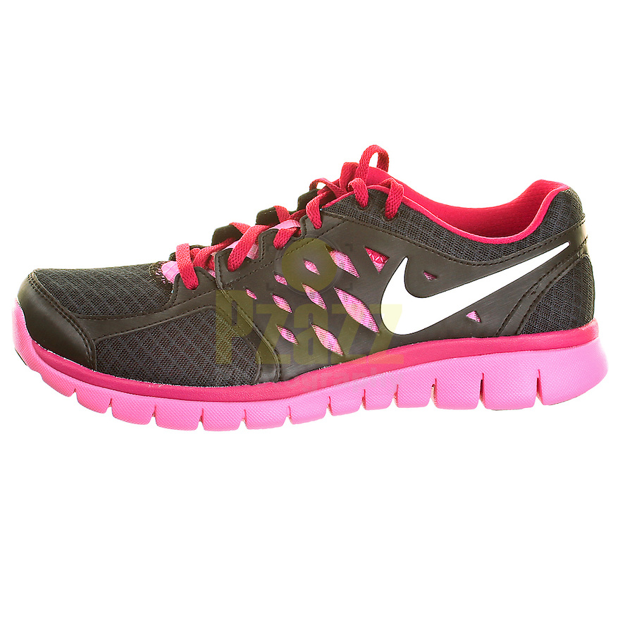 Nike Flex Black / Pink Womens Running Shoe Packshot