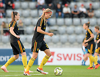 20181009 – BIEL BIENNE , SWITZERLAND : Belgian Julie Biesmans pictured during the female soccer game between Switzerland and the Belgian Red Flames , the second leg in the semi finals play offs for qualification for the World Championship in France 2019 ; the first leg ended in equality 2-2 ;  Tuesday 9 th october 2018 at The Tissot Arena  in BIEL BIENNE , Switzerland . PHOTO SPORTPIX.BE | DAVID CATRY