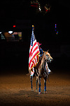 Flag Girl during first round of the Fort Worth Stockyards Pro Rodeo event in Fort Worth, TX - 8.9.2019 Photo by Christopher Thompson