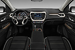Stock photo of straight dashboard view of 2018 GMC Acadia Denali 5 Door SUV Dashboard