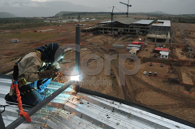 Construccion del nuevo aeropuerto de Quito.