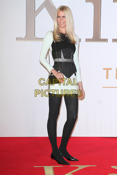 LONDON, ENGLAND - JANUARY 14: Claudia Schiffer attends the World Premiere of 'Kingsman: The Secret Service' at the Odeon Leicester Square on January 14, 2015 in London, England<br /> CAP/ROS<br /> &copy;Steve Ross/Capital Pictures