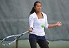Amanda Foo of Manhasset returns volley during the Nassau County varsity girls' tennis doubles final at Eisenhower Park on Sunday, October 18, 2015.<br /> <br /> James Escher