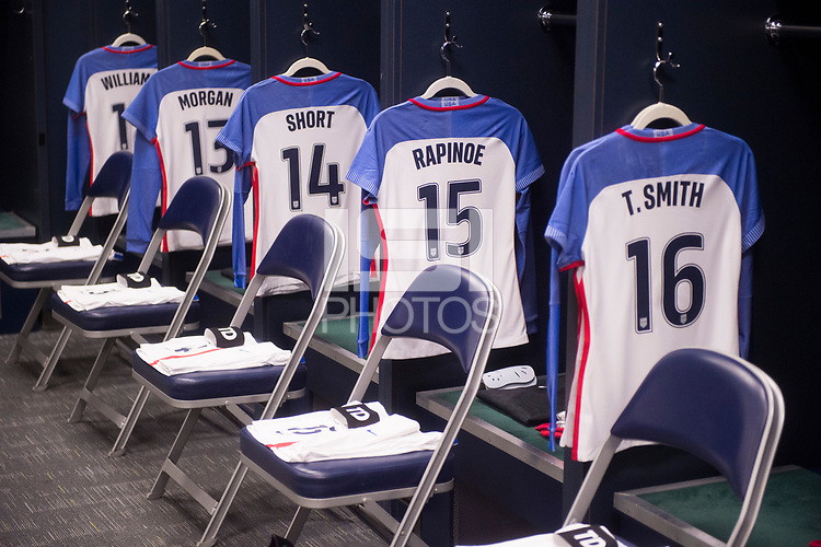 Seattle, WA - July 27, 2017: The USWNT lost to Australia 1-0 during the first match of the Tournament of Nations at CenturyLink Field.Seattle, WA - July 27, 2017: The USWNT lost to Australia 1-0 during the first match of the Tournament of Nations at CenturyLink Field.