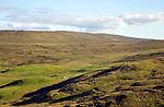 Moorland peat bogs, valley of Kergord, Shetland islands, from Setter near Voe,