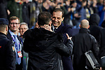 Atletico de Madrid's coach Diego Pablo Simeone and Juventus' coach Massimiliano Allegri during UEFA Champions League match, Round of 16, 1st leg between Atletico de Madrid and Juventus at Wanda Metropolitano Stadium in Madrid, Spain. February 20, 2019. (ALTERPHOTOS/A. Perez Meca)