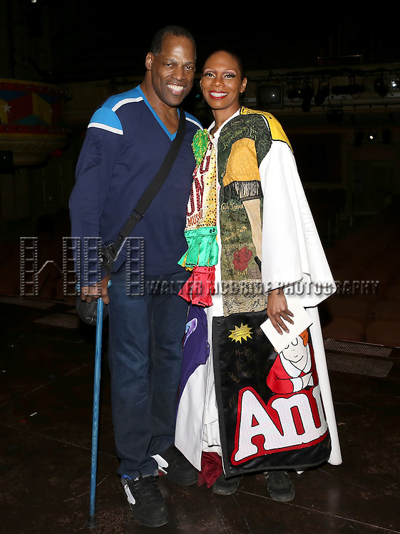 Adrian Bailey & Stephanie Pope  attending the Broadway Opening Night Gypsy Robe Ceremony honoring Stephanie Pope for 'Pippin' at the Music Box Theatre in New York City on 4/25/2013
