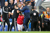 Sheffield United Manager, Chris Wilder and Chelsea Manager, Frank Lampard shake hands at the final whistle during Chelsea vs Sheffield United, Premier League Football at Stamford Bridge on 31st August 2019