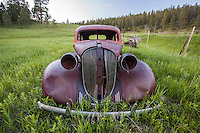 Old abandoned car, Four Corners, WY