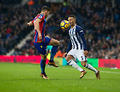 2nd December 2017, The Hawthorns, West Bromwich, England; EPL Premier League football, West Bromwich Albion versus Crystal Palace; Kieran Gibbs of West Bromwich Albion and Joel Ward of Crystal Palace comes together for a high ball