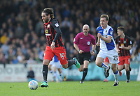 Blackburn Rovers' Danny Graham vies for possession with Bristol Rovers' Tony Craig<br /> <br /> Photographer Ashley Crowden/CameraSport<br /> <br /> The EFL Sky Bet League One - Bristol Rovers v Blackburn Rovers - Saturday 14th April 2018 - Memorial Stadium - Bristol<br /> <br /> World Copyright &copy; 2018 CameraSport. All rights reserved. 43 Linden Ave. Countesthorpe. Leicester. England. LE8 5PG - Tel: +44 (0) 116 277 4147 - admin@camerasport.com - www.camerasport.com