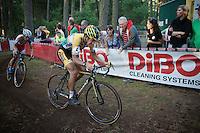 Tom Meeusen (BEL/Telenet-Fidea) ahead of Kevin Pauwels (BEL/Sunweb-Napoleon Games)<br /> <br /> GP Neerpelt 2014