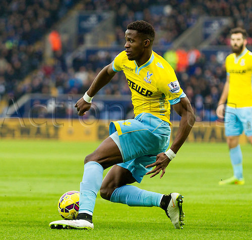 07.02.2015.  Leicester, England. Barclays Premier League. Leicester City versus Crystal Palace. Wilfried Zaha (Crystal Palace) on the ball.