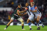 Valentino Mapapalangi of Leicester Tigers takes on the Castres defence. European Rugby Champions Cup match, between Leicester Tigers and Castres Olympique on October 21, 2017 at Welford Road in Leicester, England. Photo by: Patrick Khachfe / JMP