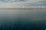 The view across the Dead Sea, looking approximately west from Jordan.  The distant shore is Israel. © Rick Collier