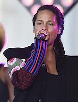 New York,NY-September 2: Alicia Keys performs On NBC's 'Today' at Rockefeller Plaza on September 2, 2016 in New York City. @John Palmer / Media Punch