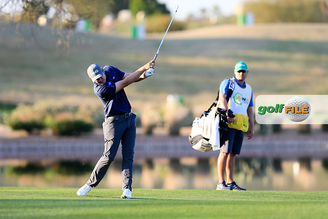 Seamus Power (IRL) on the 15th fairway during the 2nd round of the Waste Management Phoenix Open, TPC Scottsdale, Scottsdale, Arisona, USA. 01/02/2019.<br /> Picture Fran Caffrey / Golffile.ie<br /> <br /> All photo usage must carry mandatory copyright credit (© Golffile | Fran Caffrey)