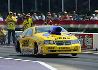 Apr. 27, 2012; Baytown, TX, USA: NHRA pro stock driver Jeg Coughlin during qualifying for the Spring Nationals at Royal Purple Raceway. Mandatory Credit: Mark J. Rebilas-