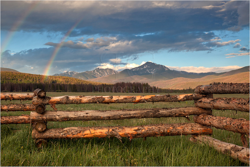 In the early morning hours, I was hoping for a Colorado picture of Byers Peak just off Highway 40 in Grand County, Colorado, when a rainbow appeared. It lasted only a few minutes, but I was able to capture this colorful image of the Colorado Rockies.