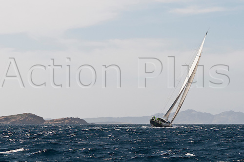 "05.06.2012 Porto Cervo, Italy. Loro Piana Superyacht Regatta  Day 1. Boat: 29 metres ""Scorpione dei Mari"". The Yacht Club Costa Smeralda's superyacht season opens once again with Loro Piana Superyacht Regatta, the first of the major events in the Mediterranean."
