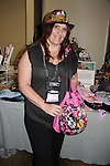 Donna O'Brien - editor at Crescent Moon - is wearing Jane Elissa's Hat for Health hat which benefits Leukemia/Lymphoma at Romantic Times Booklovers Annual Convention 2011 - The Book Industry Event of the Year - April 6th to April 10th at the Westin Bonaventure, Los Angeles, California for readers, authors, booksellers, publishers, editors, agents and tomorrow's novelists - the aspiring writers. (Photo by Sue Coflin/Max Photos)
