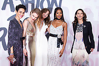 Natalia Vodianova, Carla Bruni, Farida Khelf, Naomi Campbell at the 2018 Fashion For Relief gala during the 71st Cannes Film Festival, held at Aeroport Cannes Mandelieu in Cannes, France.<br /> CAP/NW<br /> &copy;Nick Watts/Capital Pictures