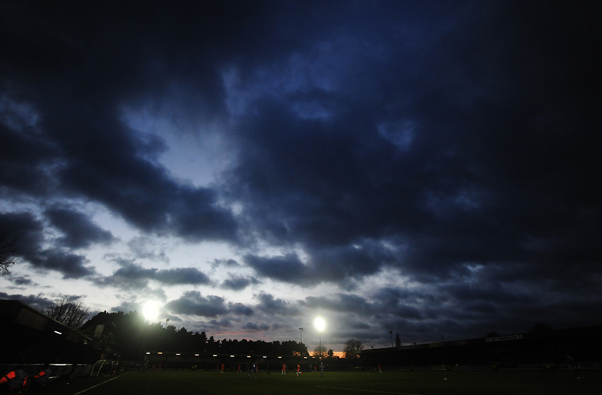 A general view of Kingsmeadow Stadium, home of AFC Wimbledon FC<br /> <br /> Photographer Kevin Barnes/CameraSport<br /> <br /> The EFL Sky Bet League One - AFC Wimbledon v Blackpool - Saturday 29th December 2018 - Kingsmeadow Stadium - London<br /> <br /> World Copyright © 2018 CameraSport. All rights reserved. 43 Linden Ave. Countesthorpe. Leicester. England. LE8 5PG - Tel: +44 (0) 116 277 4147 - admin@camerasport.com - www.camerasport.com
