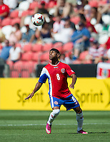 SANDY, UT - July 13, 2013: Costa Rica National Team midfielder Kenny Cunningham (8) during the Costa Rica vs Belize match at Rio Tinto Stadium in Sandy, Utah. Final score Costa Rica 1, Belize 0.