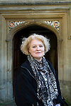 Elizabeth Edmondson, writer of historical mysteries, at Corpus Christi during the FT Weekend Oxford Literary Festival, Oxford, UK. Saturday 29 March 2014.<br /> <br /> PHOTO COPYRIGHT Graham Harrison<br /> graham@grahamharrison.com<br /> <br /> Moral rights asserted.