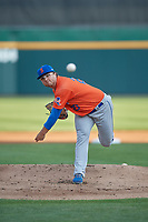 Syracuse Mets starting pitcher Anthony Kay (27) during an International League game against the Buffalo Bisons on June 29, 2019 at Sahlen Field in Buffalo, New York.  Buffalo defeated Syracuse 9-3.  (Mike Janes/Four Seam Images)