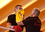 23.08.2011, Stanglwirt, Going, AUT, Vitali Klitschko, Training, im Bild Trainer Fritz Sdunek trocknet Vitali Klitschko mit einem Handtuch ab // during a trainingssession at Hotel Stanglwirt in Going, Austria on 23/8/2011. EXPA Pictures © 2010, PhotoCredit: EXPA/ J. Groder