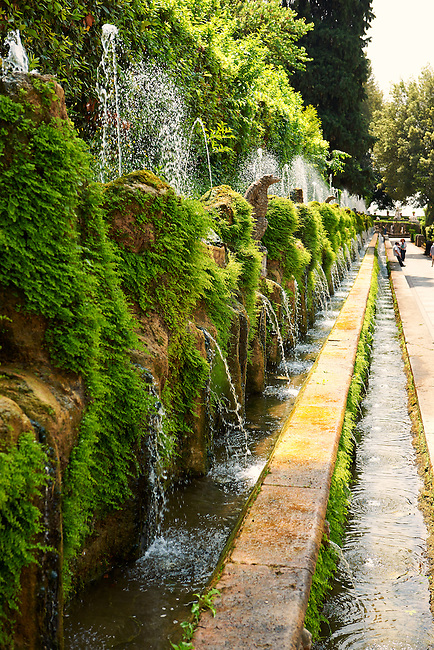 The Hundred Fountains, 1569, Villa d'Este gardens, Tivoli, Italy - Unesco World Heritage Site.