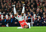 Arsenal's Theo Walcott falls to the ground<br /> <br /> Barclays Premier League- Arsenal vs Manchester City - Emirates Stadium - England - 21st December 2015 - Picture David Klein/Sportimage