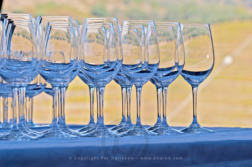 tasting glasses quinta do vallado douro portugal