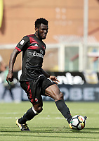 Calcio, Serie A: Genova, Stadio Luigi Ferraris, 24 settembre 2017. <br /> Milan's Frank Kessie during the Italian Serie A football match between Sampdoria and Milan at Genova's Luigi Ferraris stadium. September 24, 2017.<br /> UPDATE IMAGES PRESS/Isabella Bonotto