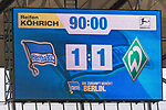 10.09.2017, Olympiastadion, Berlin, GER, 1.FBL, Hertha BSC vs SV Werder Bremen<br /> <br /> im Bild<br /> Anzeigetafel / Endstand, Feature, <br /> <br /> Foto &copy; nordphoto / Ewert