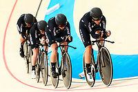 Picture by Alex Whitehead/SWpix.com - 09/12/2017 - Cycling - UCI Track Cycling World Cup Santiago - Velódromo de Peñalolén, Santiago, Chile - New Zealand's Racquel Sheath, Bryony Botha, Rushlee Buchanan and Kirstie James compete in the Women's Team Pursuit first round